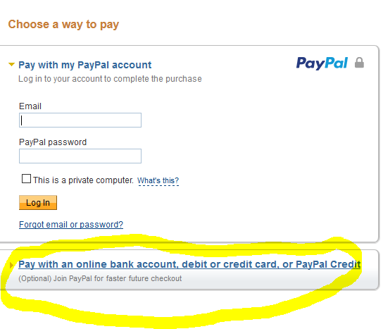 Capture PayPal Pay by CC Step Two