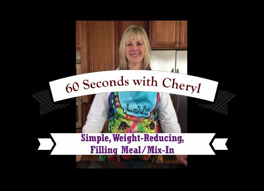 Simple, weight-reducing filling meal/mix-in for your dog from Cheryl Bauer